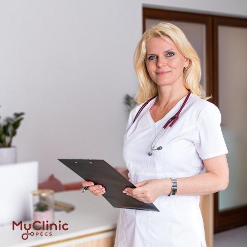 Lovász Orsolya a MyClinic Pécs tüdőgyógyász szakorvosa.
