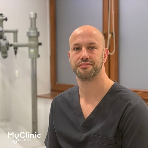 Dr. Bakó Péter a MyClinic Pécs fül-orr-gégész szakorvosa